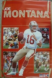RARE JOE MONTANA SF 49ERS 1989 VINTAGE ORIGINAL NFL STARLINE  COLLAGE  POSTER