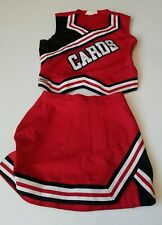 New listing Real High School Varsity Cheer White Red Silver Cardinals Cheerleading Uniform