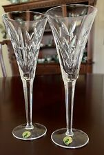 2 Waterford America's Heritage Collection Lincoln Champagne Toasting Flutes