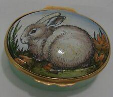 Halcyon Days Tiffany & Co Bunny Rabbit Carrot Enamel Trinket Box