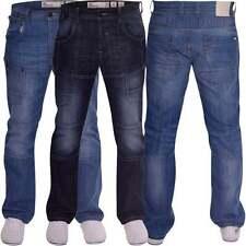 Crosshatch Cotton Indigo, Dark wash Long Jeans for Men