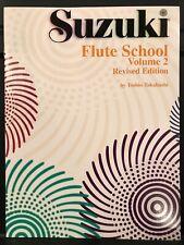 Suzuki Flute School Vol. 2 Revised Ed. Booklet by Toshio Takahashi - Brand New
