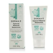 New Derma E Natural Mineral Oil-Free Sunscreen Broad Spectrum Spf 30 - Face 2oz