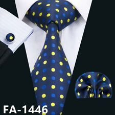 USA 50 Colors Silk Mens Tie Blue Solid Floral StripePlaid Animal Tie Set Necktie