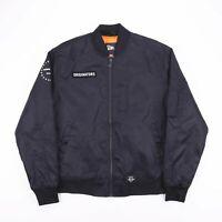 NEW ERA Black Bomber Lightweight Padded Zip Up Jacket Mens Size Medium
