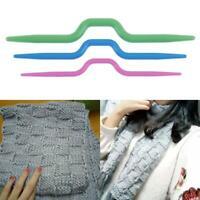 3pcs Curved Scarf Sweater Knitting Twist Needles Crochet Hook Weaving Tool hv2n