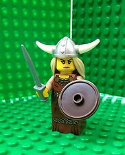 Lego Viking Woman Minifigures Female Shield Horns Helmet City Town 8831 Series 7