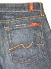 7 for all Mankind Bootcut jeans Dark Distressed USA made Sz 28