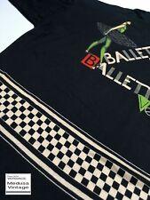 GIANNI VERSACE VINTAGE '90 BALLETTO PRINTED TOP T-SHIRT MEN LOGO SKETCH LETTERS