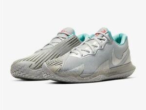 Nike Air Zoom Vapor Cage 4 HC RAFA Metallic Silver CD0424-004 Men's Sz 9.5 New