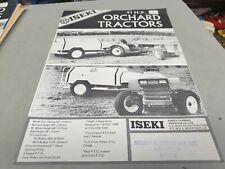1980s ? ISEKI Orchard Tractors New Zealand  Sales Leaflet