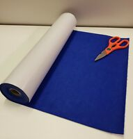 3 Metre's x 450mm wide roll of ROYAL BLUE STICKY BACK SELF ADHESIVE FELT / BAIZE