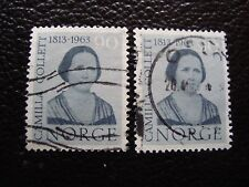 NORVEGE - timbre yvert et tellier n° 451 x2 obl (A30) stamp norway (Z)