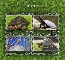 More details for maldives turtles stamps 2020 mnh aldabra giant tortoise turtle reptiles 4v m/s