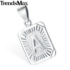 Initial Letter A-Z Pendant Charm Womens Mens Unisex  Gold Filled GF Hip Hop Gift