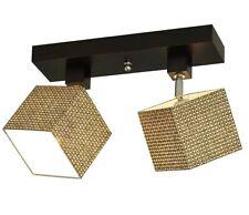 17 Stories Maze 3-Light Ceiling Spotlight Brown Wood  6cmH x 37cmW x 10cmD