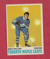 1970-71 TOPPS # 109 LEAFS MIKE WALTON  NRMT+  CARD