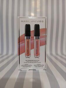 Marc Jacobs Two Enamored With You Lip Gloss Set Shade Sugar Sugar & Pink Parade
