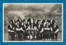 """1930'S RP PC """"EDELWEISS"""" YODELLING CHOIR OF LUCERNE SIGNED BY SOME MEMBERS"""