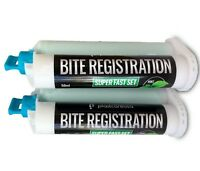 2 x Dental Bite Registration Material, Super Fast Set (50ml Cartridges) German