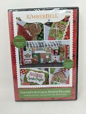 Kimberbell Embroidery Cd Christmas Designs, Ginger's Kitchen, Bench Pillow Kd586