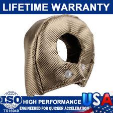 T4 CarbonFiber Titanium Turbo Silica Heat Shield Blanket Turbocharger Cover Wrap
