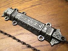"Large 10 "" Eastlake ? Double Door. French.Barn Door Pull Chain Lock Latch."