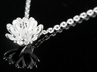925 collar plateado plata del colgante de la margarita