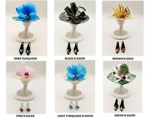 BARBIE FASHION HATS & SHOES FEATHERS N JEWELS  ACCESSORY FOR  BARBIE DOLL CLOTHE