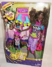 NRFB BARBIE ~ AA SO IN STYLE KARA & SISTER KIANNA SKATING FUN MATTEL DOLL MIB