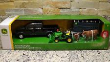 NEW Ertl Tomy promo farm toy John Deere Ford F150 1/32 Horse Cattle Hauling Set