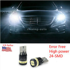 2x T10 194 2825 CANBUS White 24SMD W5W LED tail Interior light Bulb for AUDI BMW