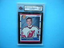 1990/91 SCORE NHL HOCKEY CARD #439 MARTIN BRODEUR ROOKIE KSA 7.5 NM+ SHARP+