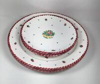 Gmundner Keramic Austria (Set Of 4) Two Dinner Plates & Two Salad Plates