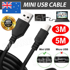 3/5M Mini USB Cable Extension Data Cable Mini USB Cord Micro USB2.0 High Quality