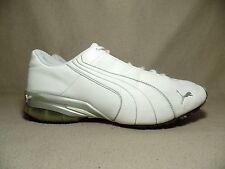 PUMA woemens Bianco Grigio CELL Cuoio Sport Sneaker UK 6/EU Taglia 39