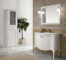 Mobile da Bagno in legno classico moderno 93x190x51 Bianco/Avorio/Noce