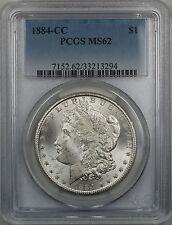 1884-CC Morgan Silver Dollar $1 Coin PCGS MS 62 (Better Coin 12-B)