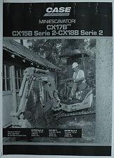 """WERBUNG : CASE CONSTRUCTION """" MINIESCAVATORI CX17B- CX15B Serie 2- CX18B Serie 2"""