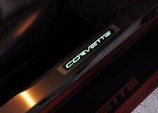 LED lighted door sills for C6 Corvette Convertible or Targa Top Custom kickplate