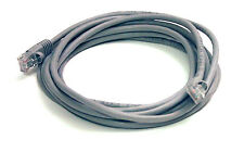 10 Foot Grey Molded Cat 5e Ethernet Network Cable-10' Feet Gold-Plated RJ45 Cat5