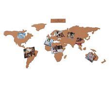 Corkboard Map World Atlas Shaped Pin Notice Memo Board