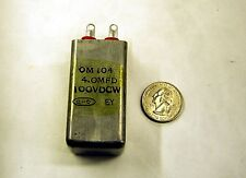 4uF 100v  CD  OM104 Can Type Capacitor  (Lot of 1)