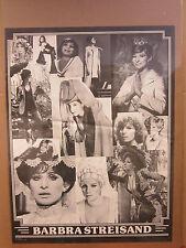 Vintage Barbra Streisand black and white collage poster 3302