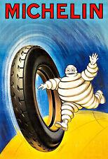 Art ad neumáticos Michelin hombre del automóvil coche Neumático Neumáticos Auto cartel impresión