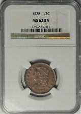 1828 1/2c NGC MS 62 Choice Uncirculated UNC Classic Head Half Cent Type Coin