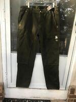 $88 abercrombie fitch CARPENTER PANTS mens Olive size 34x34