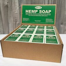 Hemp Seed Oil Soap - Unscented for Sensitive Skin - GREEN Hemp - Full box of 36