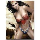 Art Superheroes Wonder Woman Hot Sexy Model Print Canvas Fabric Poster 1357