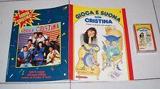 GIOCA E SUONA CON CRISTINA D'AVENA 9 Fascicolo + musicassetta De Agostini 1988